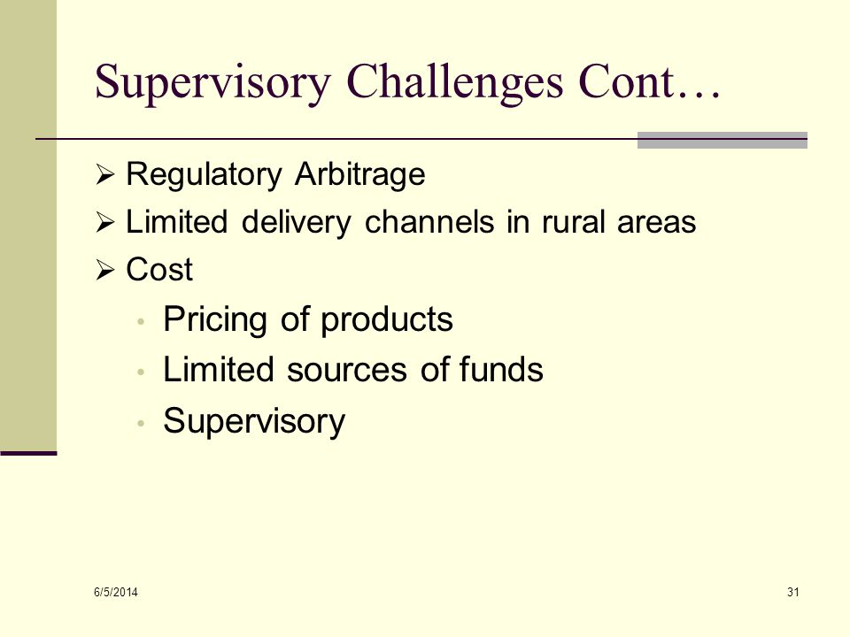 Supervisory Challenges Cont…