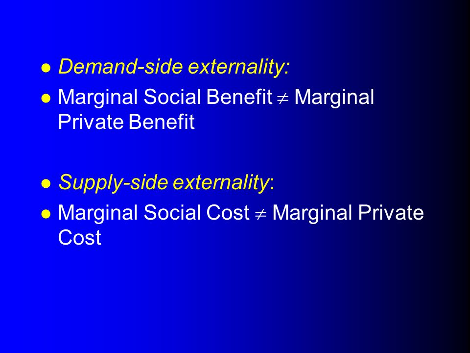 Demand-side externality: