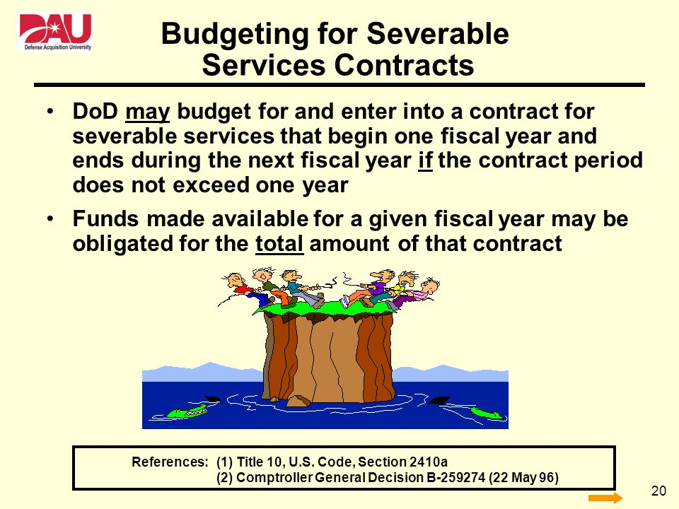 Budgeting for Severable