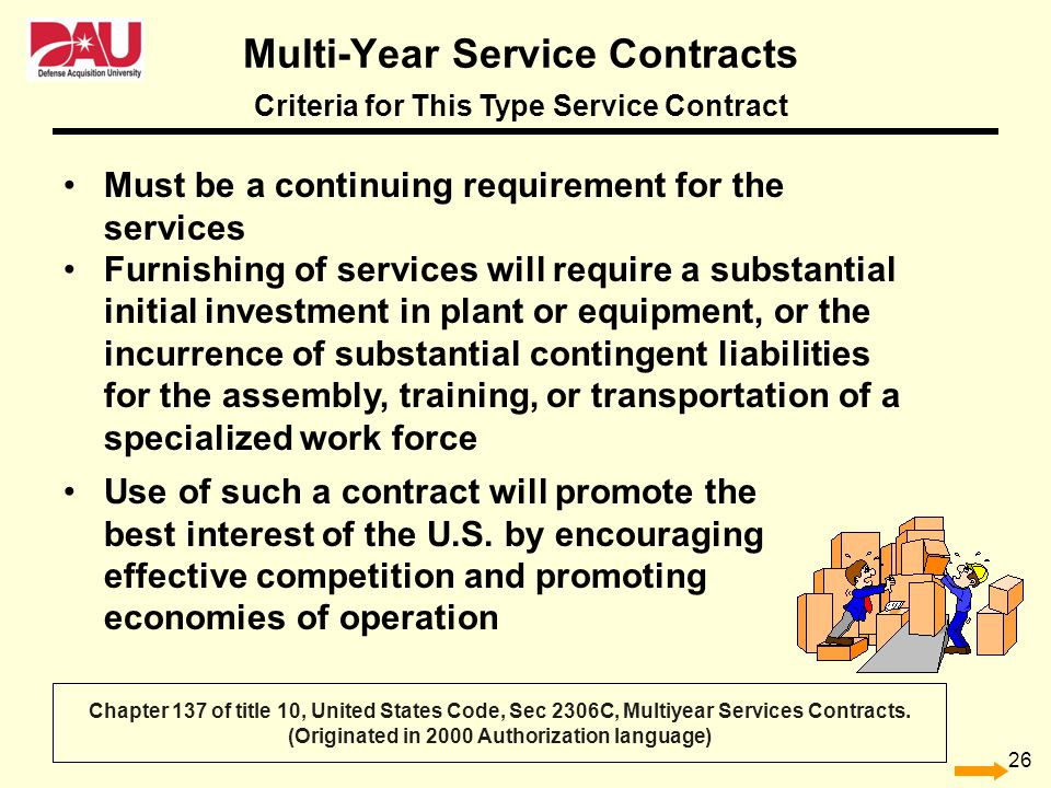 Multi-Year Service Contracts