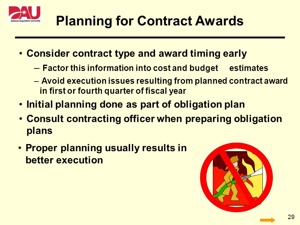 Planning for Contract Awards