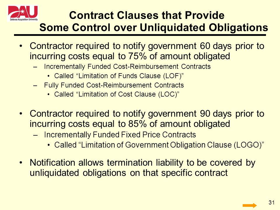 Contract Clauses that Provide