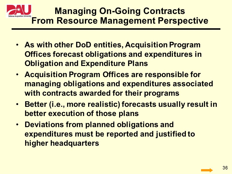 Managing On-Going Contracts