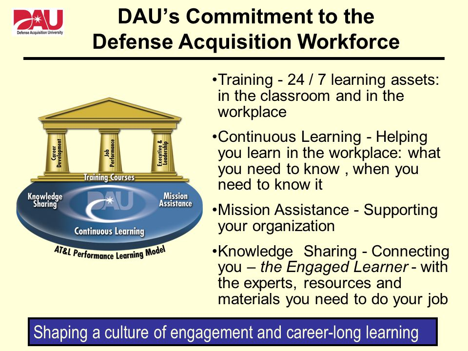 DAU's Commitment to the Defense Acquisition Workforce