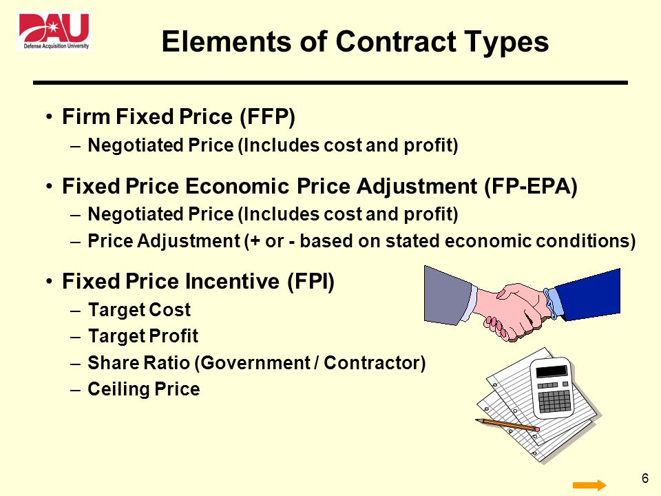 Elements of Contract Types