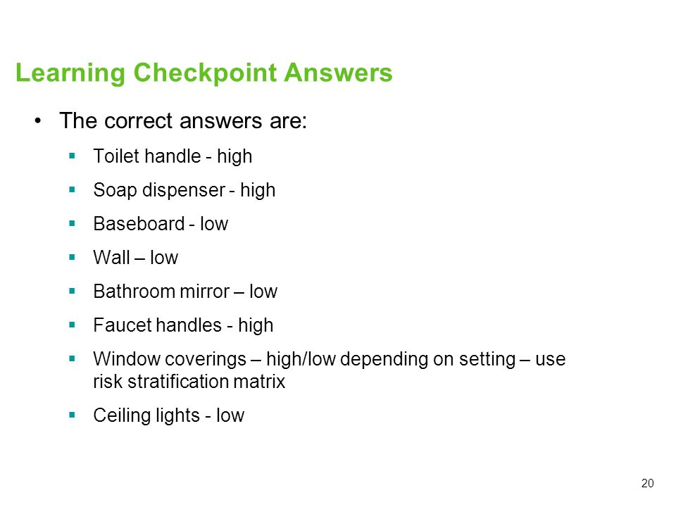 Learning Checkpoint Answers