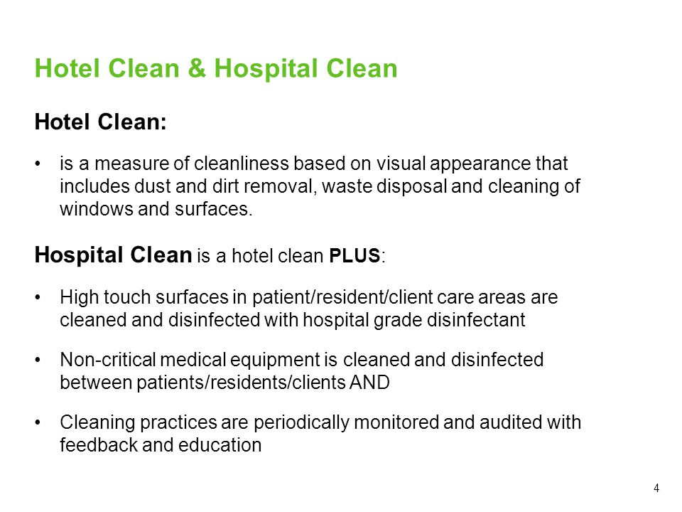 Hotel Clean & Hospital Clean
