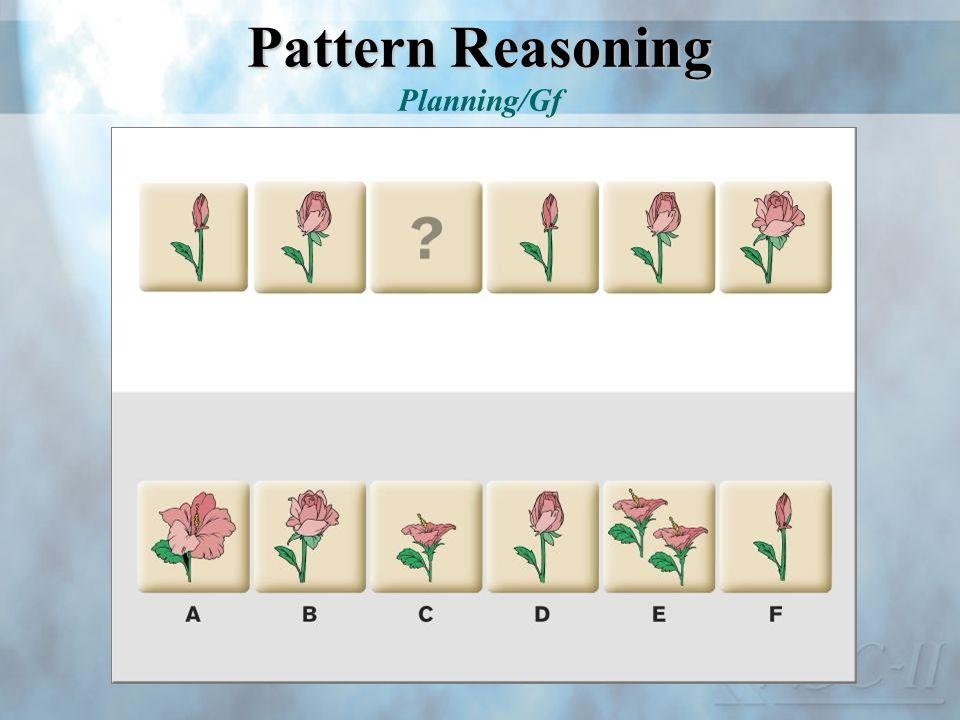 Pattern Reasoning Planning/Gf