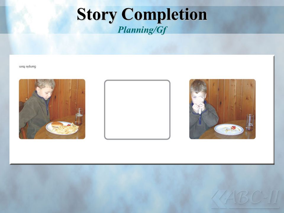 Story Completion Planning/Gf