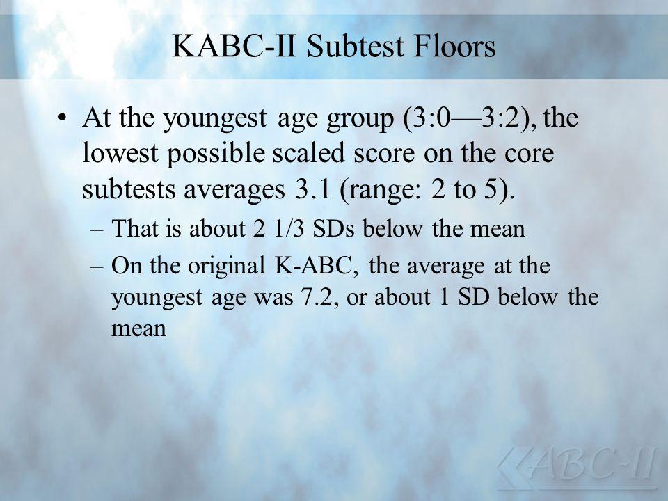 KABC-II Subtest Floors