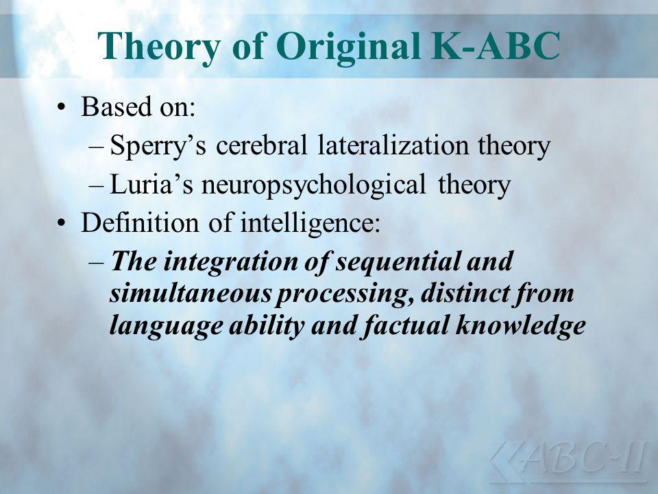 Theory of Original K-ABC