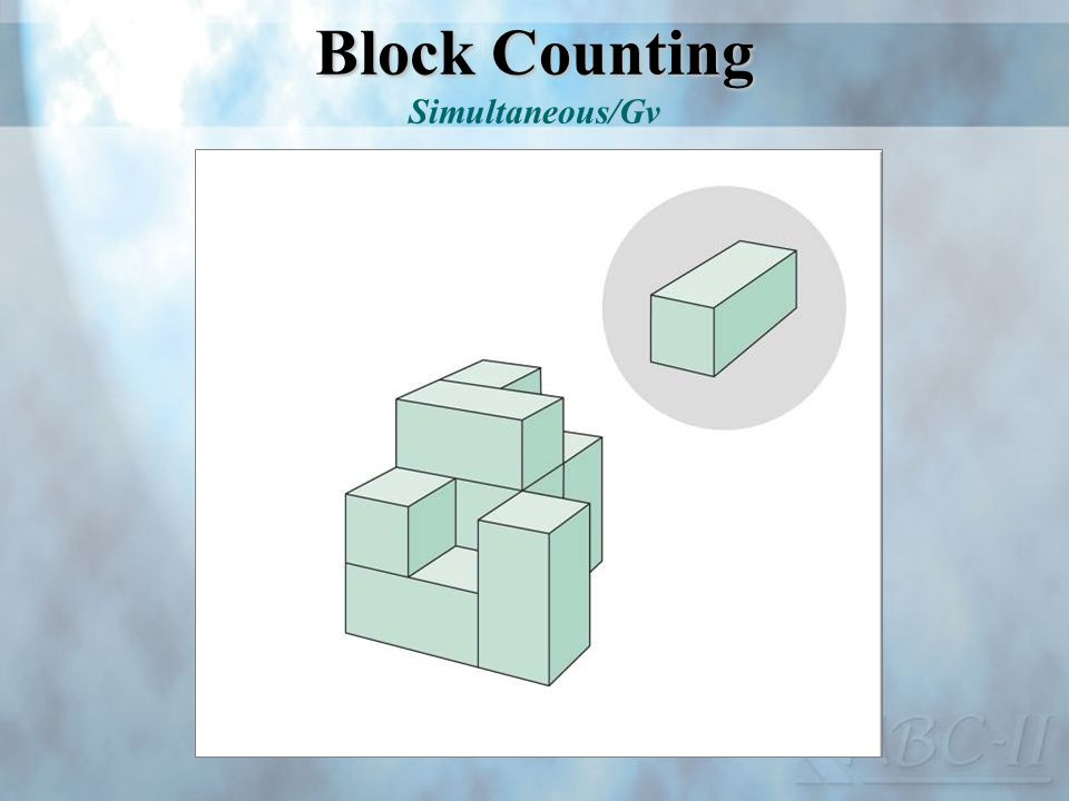 Block Counting Simultaneous/Gv