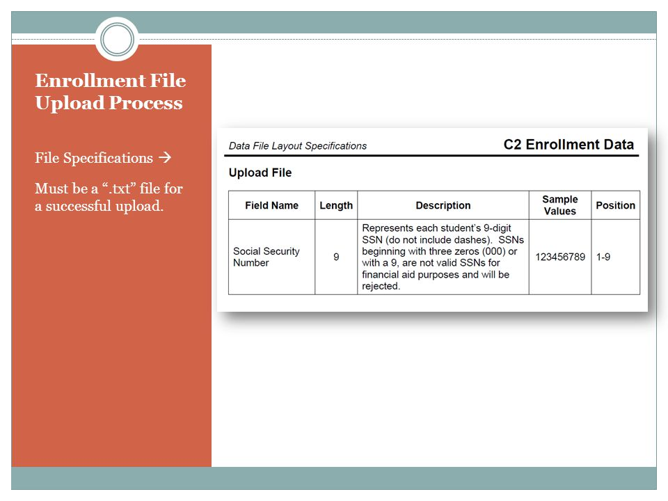 Enrollment File Upload Process