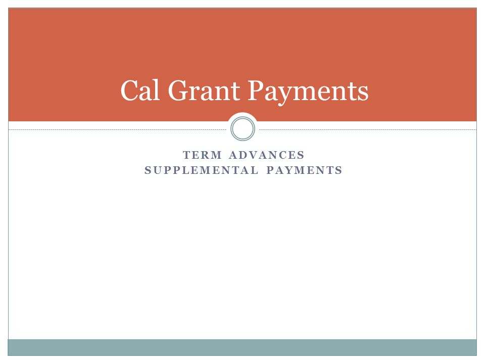 Supplemental payments