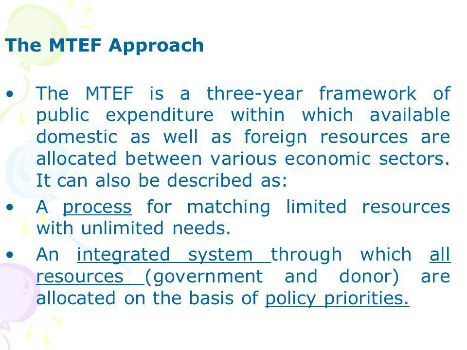 The MTEF Approach
