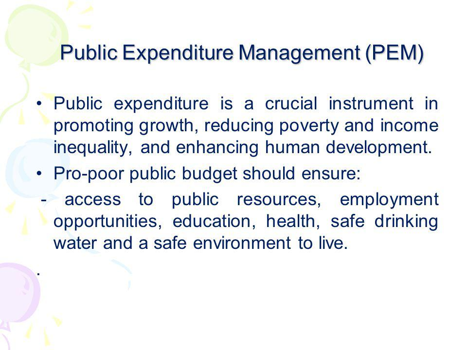 Public Expenditure Management (PEM)