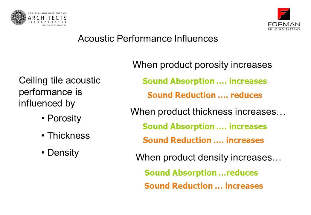 Acoustic Performance Influences