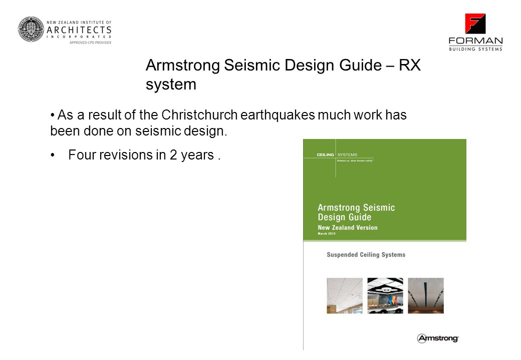 Armstrong Seismic Design Guide – RX system