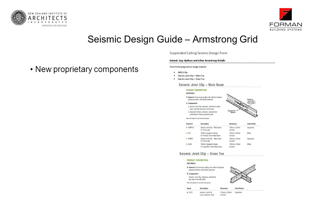 Seismic Design Guide – Armstrong Grid