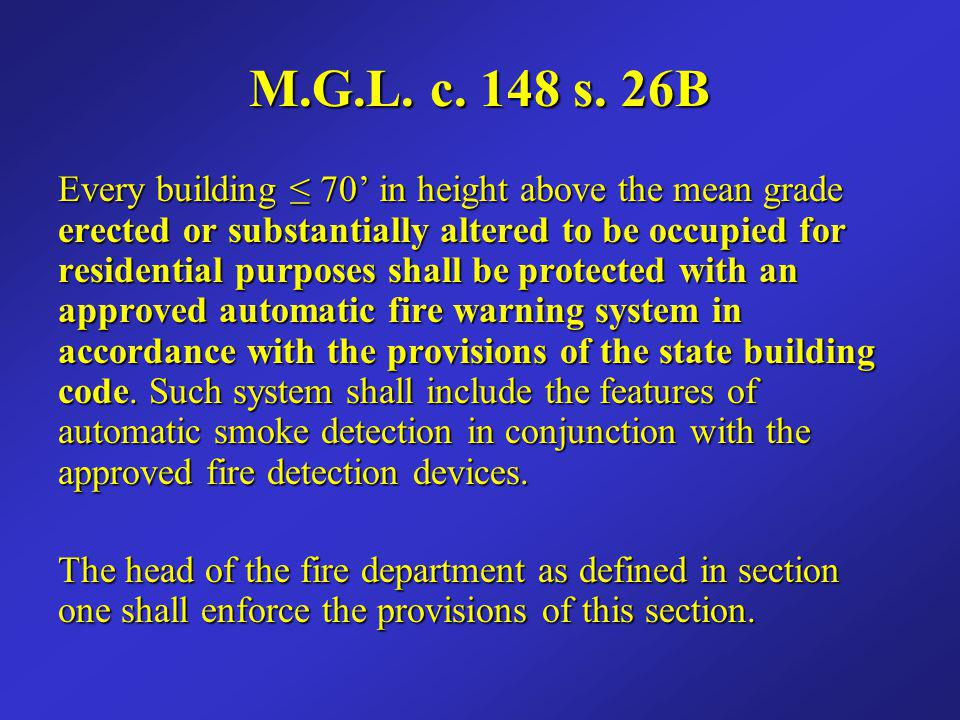 M.G.L. c. 148 s. 26B