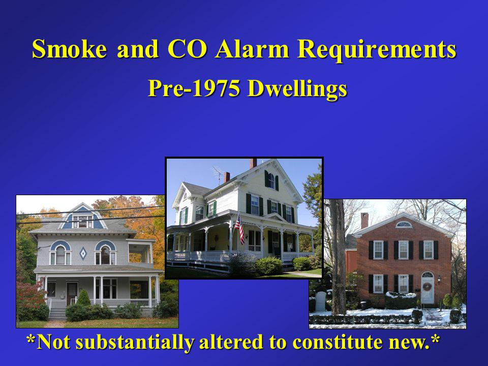 Smoke and CO Alarm Requirements Pre-1975 Dwellings
