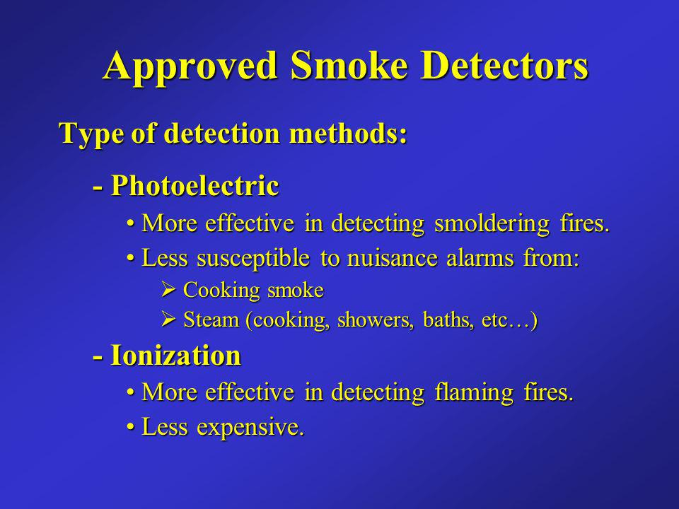 Approved Smoke Detectors
