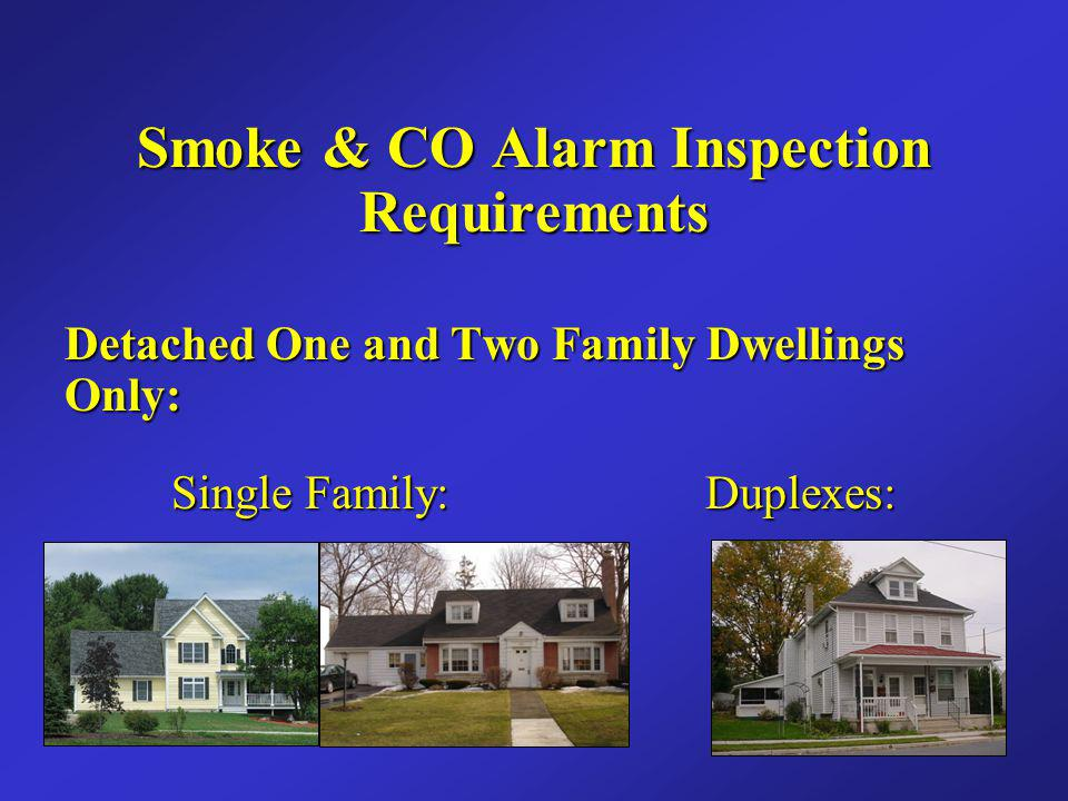 Smoke & CO Alarm Inspection Requirements