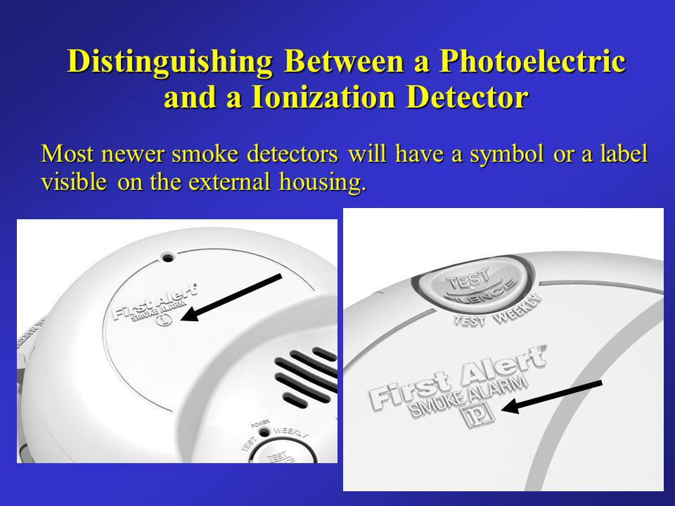 Distinguishing Between a Photoelectric and a Ionization Detector