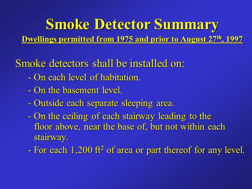 Smoke Detector Summary