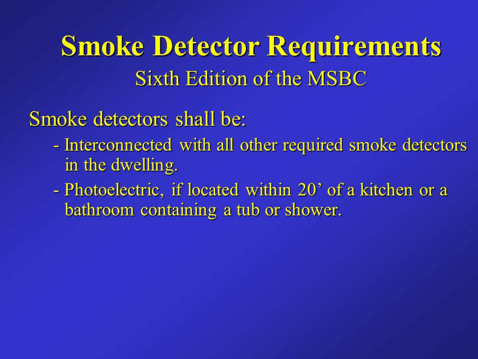Smoke Detector Requirements