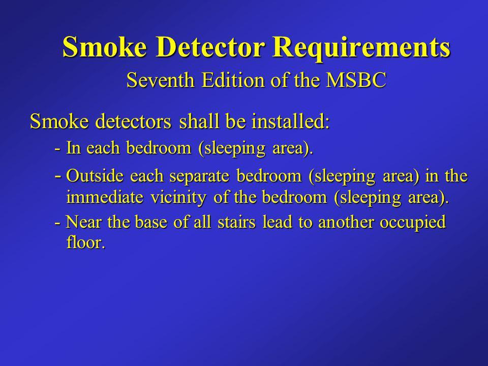 Smoke Detector Requirements