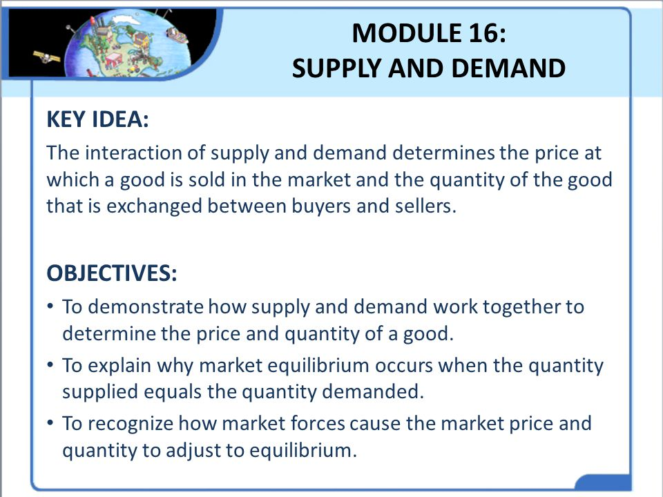 MODULE 16: SUPPLY AND DEMAND