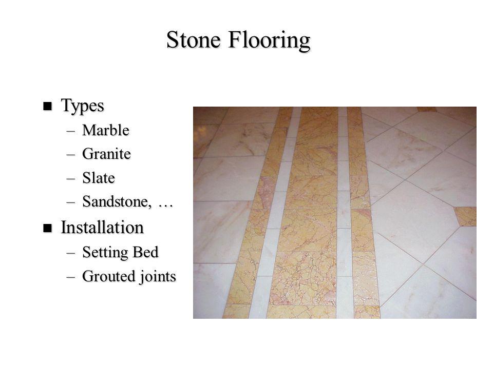 Stone Flooring Types Installation Marble Granite Slate Sandstone, …