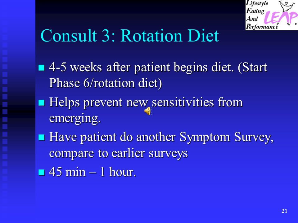 Consult 3: Rotation Diet