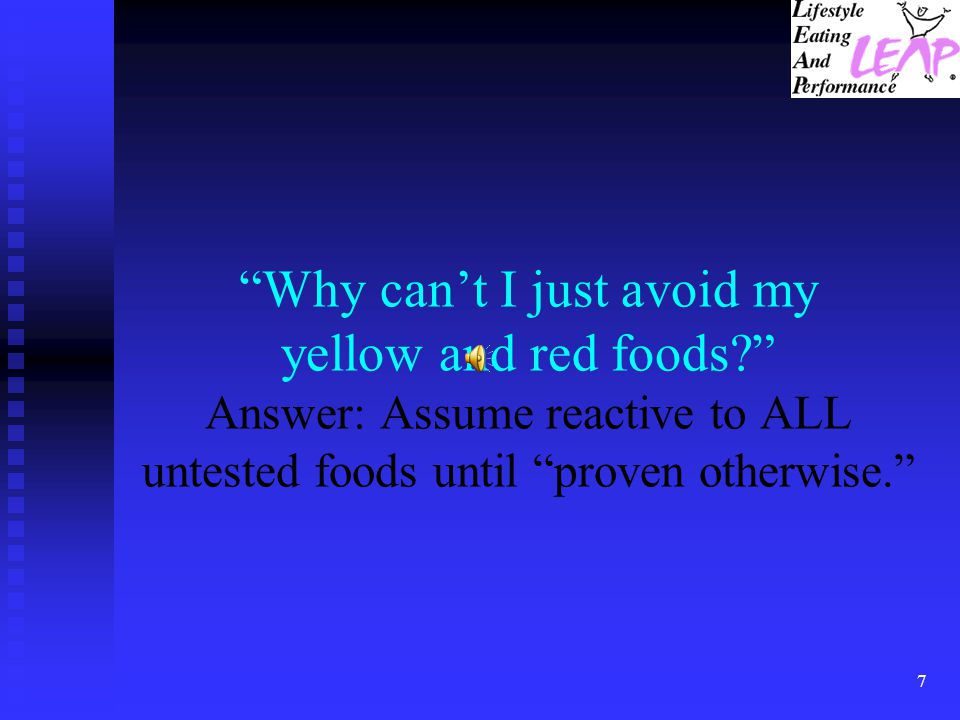 Why can't I just avoid my yellow and red foods