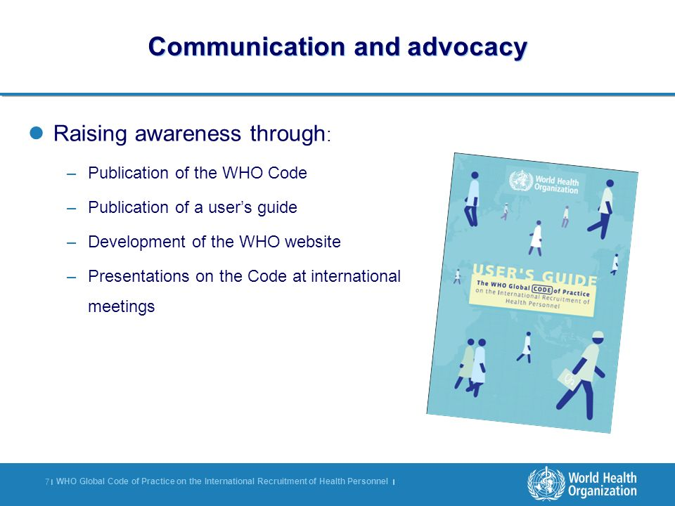 Communication and advocacy