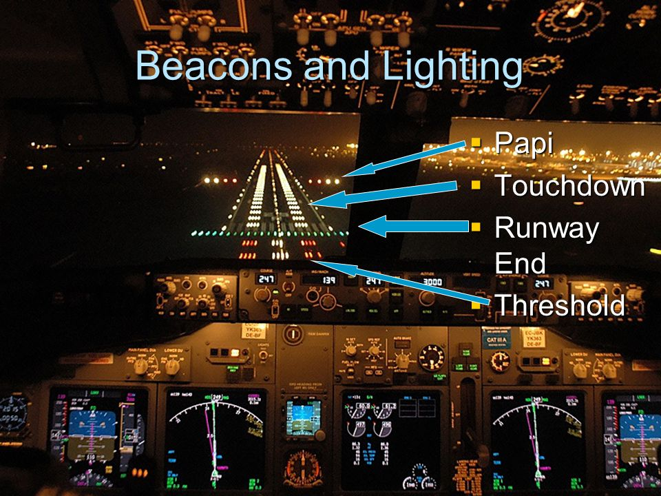 7 Beacons And Lighting Papi Touchdown Runway End Threshold