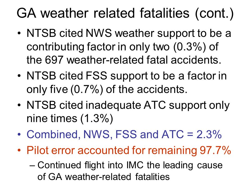 GA weather related fatalities (cont.)