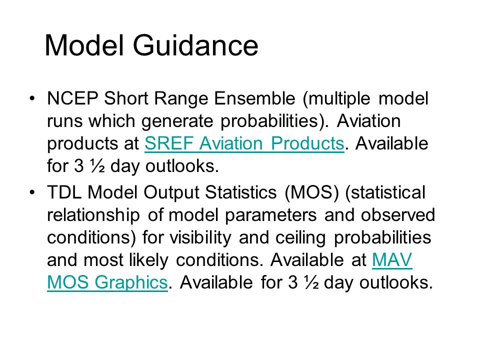Model Guidance
