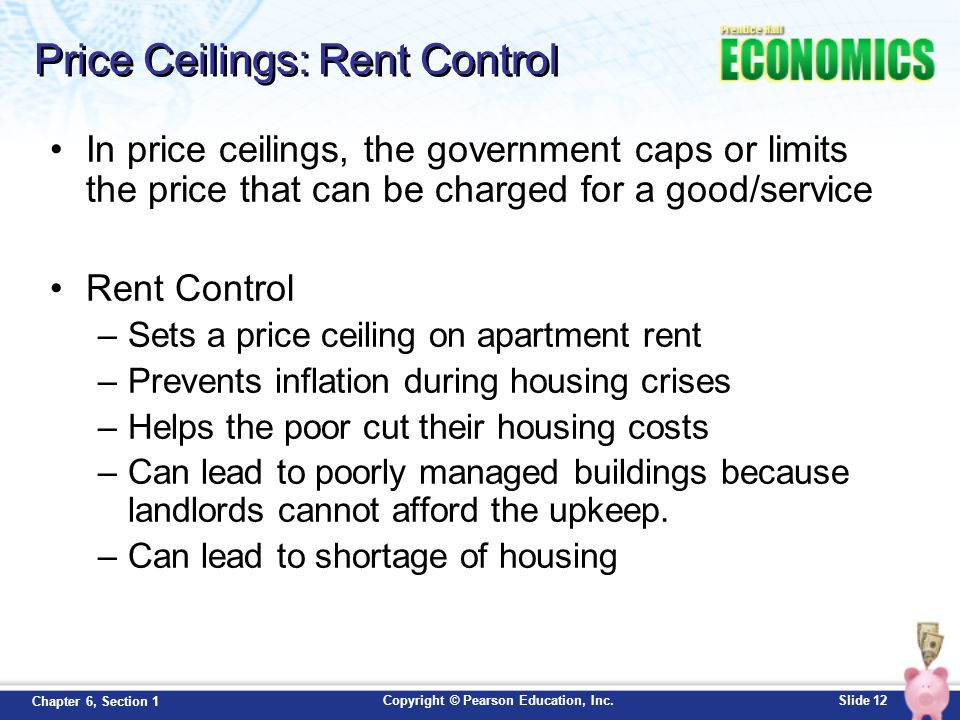Price Ceilings: Rent Control