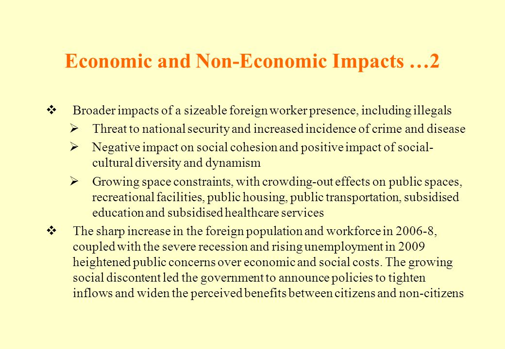 Economic and Non-Economic Impacts …2