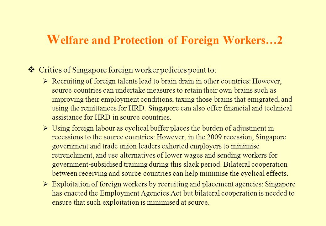 Welfare and Protection of Foreign Workers…2