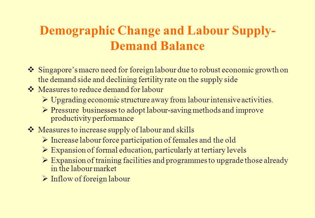 Demographic Change and Labour Supply-Demand Balance