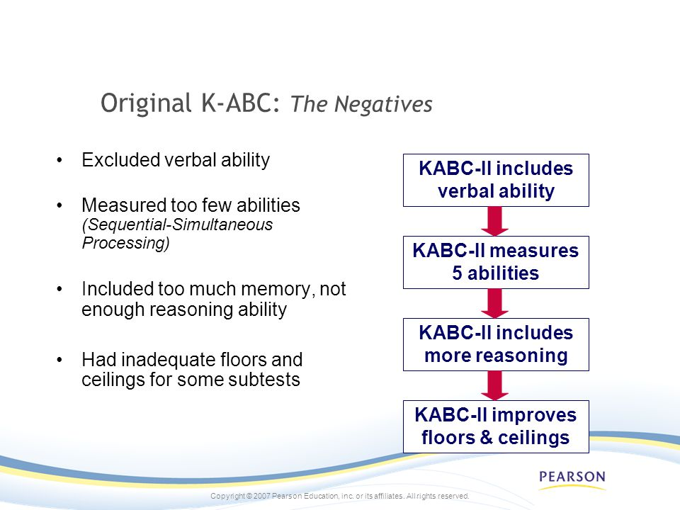 Original K-ABC: The Negatives
