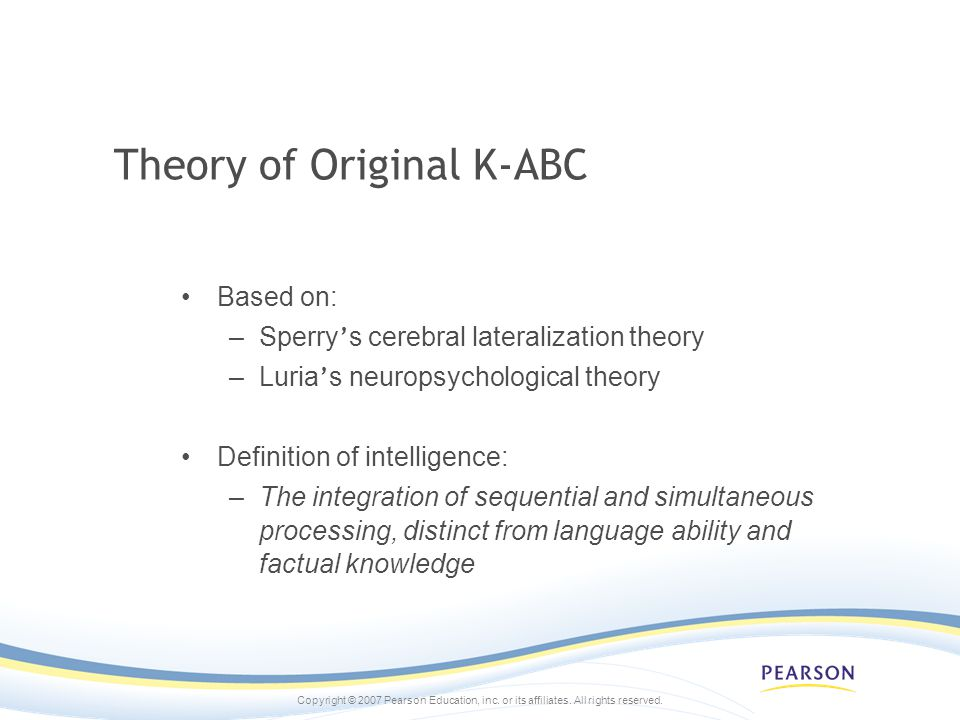 Theory of Original K-ABC