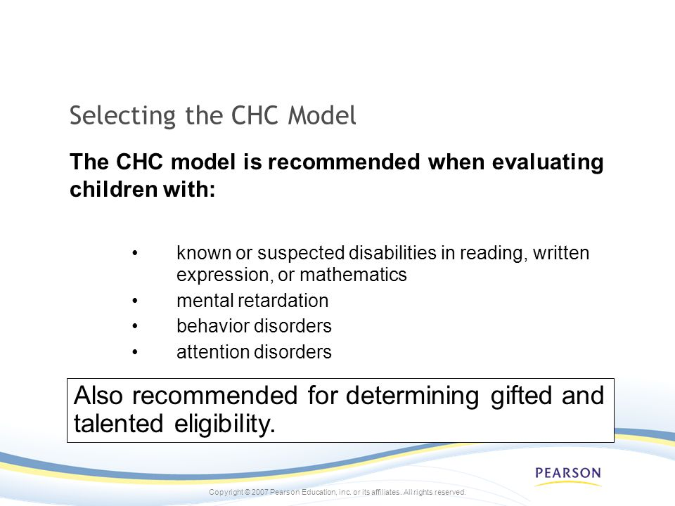 Selecting the CHC Model