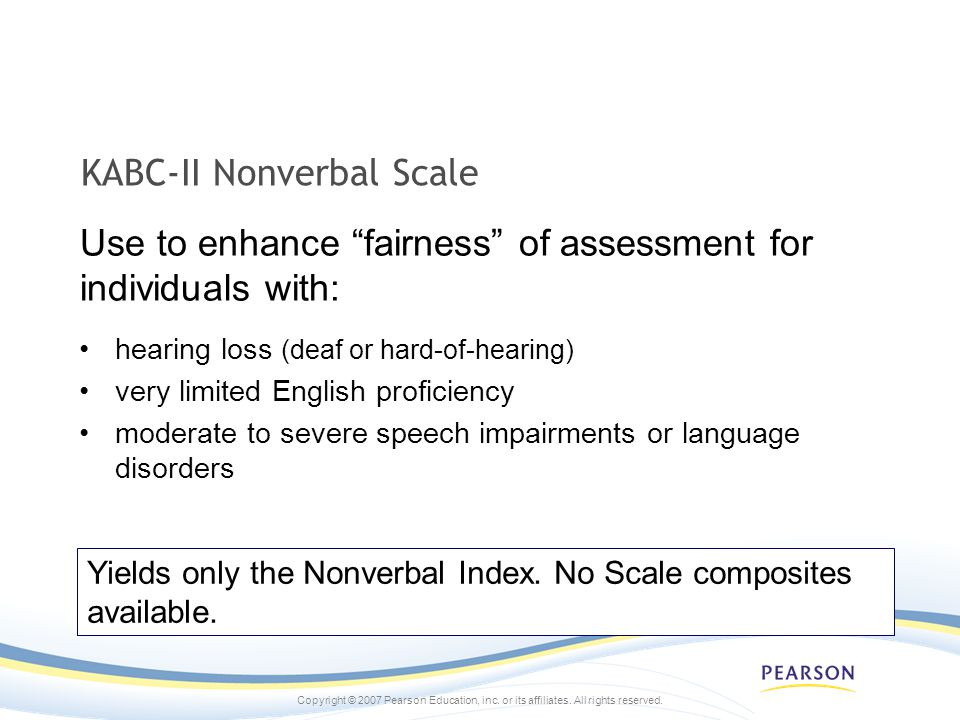 KABC-II Nonverbal Scale
