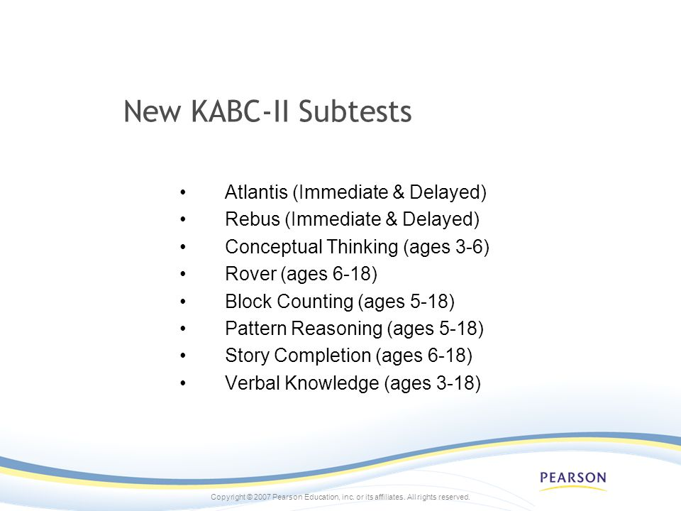 New KABC-II Subtests Atlantis (Immediate & Delayed)