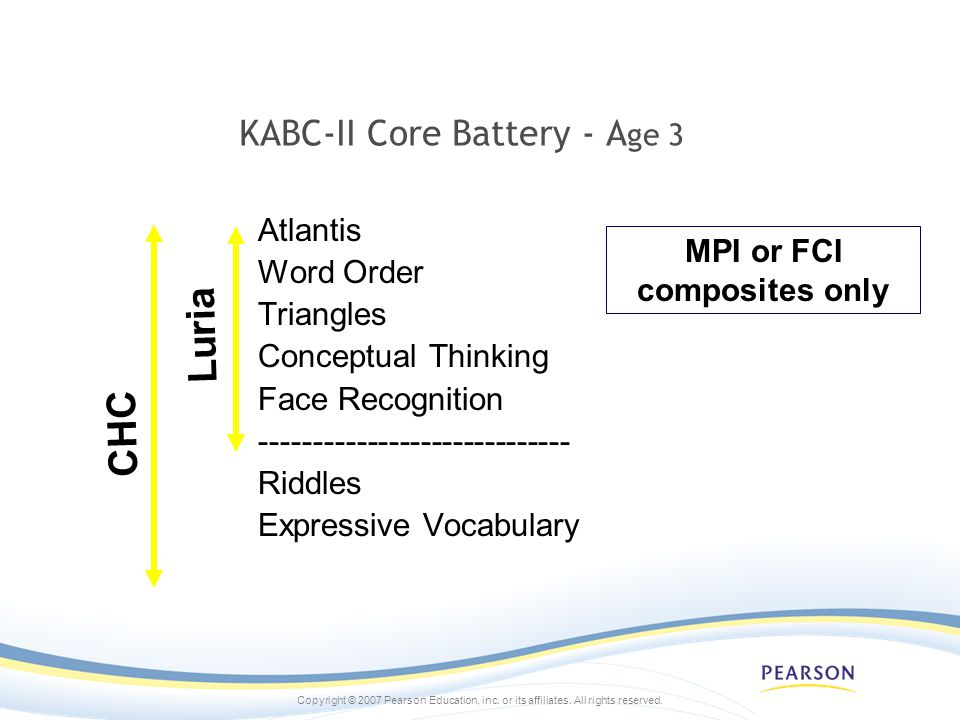 KABC-II Core Battery - Age 3