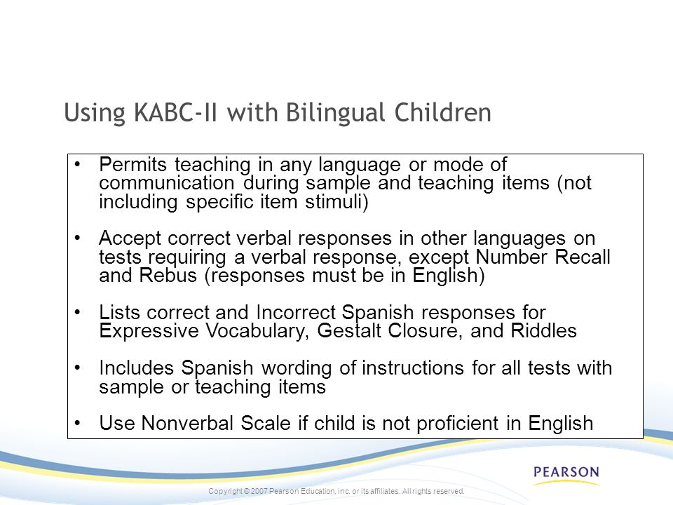 Using KABC-II with Bilingual Children
